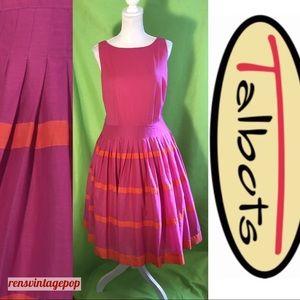 Pink & Orange Cotton Carefree Dress by Talbots